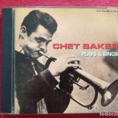 CDs de Música: CHET BAKER - PLAYS & SINGS. Lote 179344565