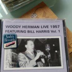 CDs de Música: WOODY HERMAN – WOODY HERMAN LIVE 1957 FEATURING BILL HARRIS VOL. 1. Lote 179377532