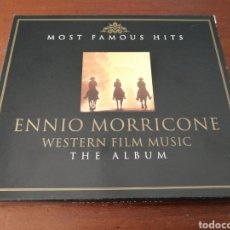 CDs de Música: 2 CD ENNIO MORRICONE WESTERN FILM MUSIC THE ALBUM MOST FAMOUS HITS DIGIPLANET. Lote 179381760