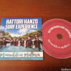 CD de Música: HATTORI HANZO FIRMADO! SURF EXPERIENCE MEANWHILE IN MALLORCA 2016 CD CARTÓN. Lote 179395786