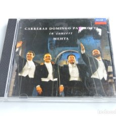 CDs de Música: CARRERAS DOMINGO PAVAROTTI - IN CONCERT CD. Lote 179397101