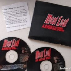 CDs de Música: MEAT LOAF / A KISS IS A TERRIBLE ... / NO MATTER WHAT (DOBLE CD SINGLE PROMO VIRGIN 1998) 2 CDS. Lote 179403322