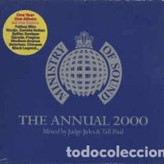 CDs de Música: VARIOUS - THE ANNUAL 2000 (2XCD, ALBUM, MIXED, CAR) LABEL:MINISTRY OF SOUND CAT#: ANNCD2K . Lote 179549331