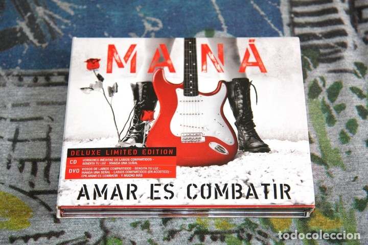 MANÁ - AMAR ES COMBATIR - CD + DVD - DELUXE LIMITED EDITION - LC 00392 - 2 DISCOS (Música - CD's Latina)