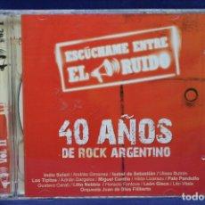 CDs de Música: VARIOUS - ESCÚCHAME ENTRE EL RUIDO VOL 1 Y 2 ( 40 AÑOS DE ROCK ARGENTINO) - 2 CD. Lote 179952500