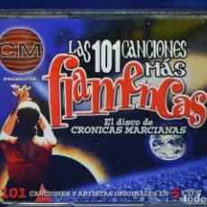 CDs de Música: VARIOUS - LAS 101 CANCIONES MÁS FLAMENCAS / EL DISCO DE CRÓNICAS MARCIANAS - 5 CD. Lote 179953108