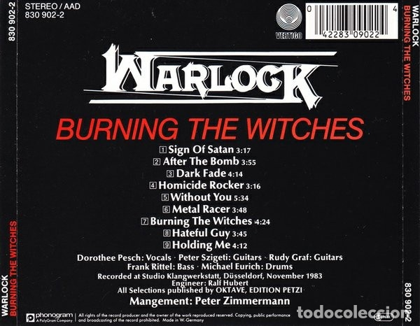 CDs de Música: WARLOCK - BURNING THE WITCHES - REISSUE - Foto 2 - 180010827