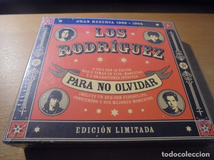 RAR 2 CD'S & DVD. LOS RODRÍGUEZ. PARA NO OLVIDAR. DIGIPACK. SEALED. MINT (Música - CD's Rock)