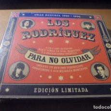 CDs de Música: RAR 2 CD'S & DVD. LOS RODRÍGUEZ. PARA NO OLVIDAR. DIGIPACK. SEALED. MINT. Lote 180020323