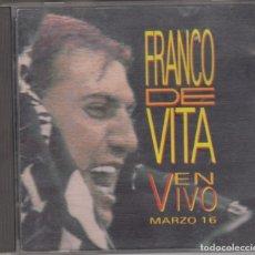 CDs de Música: FRANCO DE VITA CD EN VIVO MARZO 16 1992 SONY USA. Lote 180028693
