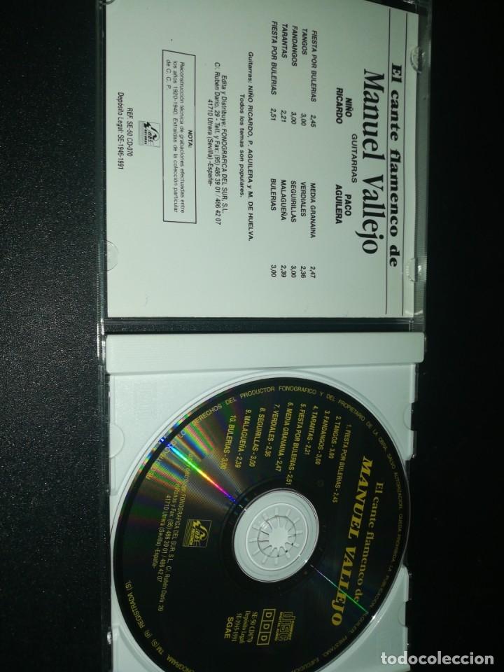 CDs de Música: El cante flamenco de Manuel vallejo - Foto 2 - 180042755