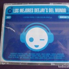 CDs de Música: LOS MEJORES DEEJAY'S DEL MUNDO VOL.2 TRIPLE CD 2004 - TECHNO - HOUSE - ELECTRONICA - MUY POCO USO. Lote 180096447