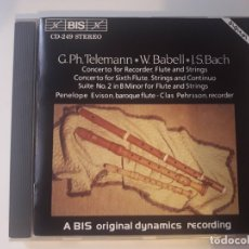 CDs de Música: CD GEORG PHILIPP TELEMANN, WILLIAM BABELL, JOHANN SEBASTIAN BACH - DROTTNINGHOLM BAROQUE ENSEMBLE (S. Lote 180100986