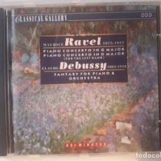 CDs de Música: CD MAURICE RAVEL / CLAUDE DEBUSSY - CLASSICAL GALLERY. Lote 180101522
