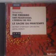 CDs de Música: CD STRAVINSKY: THE FIREBIRD - THE RITE OF SPRING. DETROIT SYMPHONY ORCHESTRA. Lote 180107553