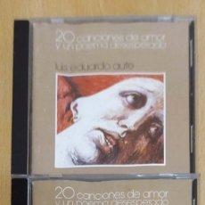 CDs de Música: LUIS EDUARDO AUTE (20 CANCIONES DE AMOR Y UN POEMA DESESPERADO VOL.1 Y VOL.2) 2 CD 1986. Lote 180130242