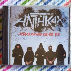 CDs de Música: ANTHRAX - ATTACK OF THE KILLER B'S CD NUEVO Y PRECINTADO - THRASH METAL HEAVY METAL. Lote 180135938
