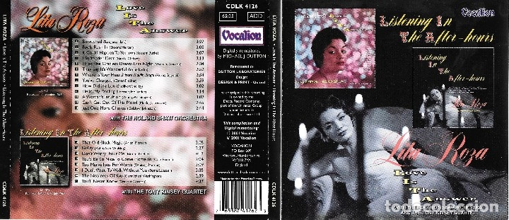 LITA ROZA - LOVE IS THE ANSWER / LISTENING IN THE AFTER-HOURS - SUPER DESCATALOGADO (Música - CD's Melódica )