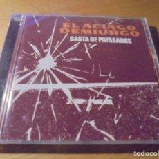CDs de Música: RAR CD. EL ACIAGO DEMIURGO. BASTA DE PAYASADAS. 4 TRACKS. PRECINTADO. Lote 180149865