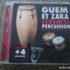 CDs de Música: CD -- GUEM ET ZAKA BEST OF PERCUSSION -- . Lote 180165963