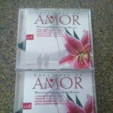 CDs de Música: CD -- CANCIONES DE AMOR - BALADAS AMANDOTE CON BOSSA -- 2 CDS -- 30 TEMAS -- . Lote 180168015