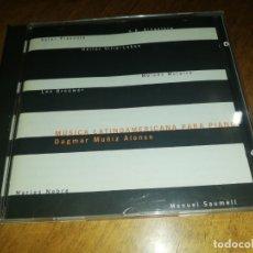 CDs de Música: DAGMAR MUÑIZ ALONSO, MUSICA LATINOAMERICANA PARA PIANO. Lote 180178601