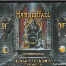 CDs de Música: HAMMERFALL - LEGACY OF KINGS - CD + CD BONUS - LIMITED EDITION, SLIPCASE SET. Lote 180188711