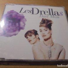 CDs de Música: RAR MAXI CD. LES DRELLAS. BAD MAN. 3 TRACKS. SEALED. MINT. Lote 180216625