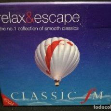 CDs de Música: CUADRUPLE CD - CLASSIC FM - RELAX AND ESCAPE (FUNDA DE CARTON GRUESA). Lote 180242400