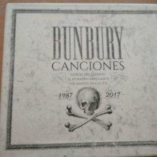 CDs de Música: BUNBURY CANCIONES 1987-2017 CUATRO VOLUMENES MAS LIBRO CAJA. Lote 180248660