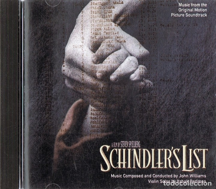 SCHINDLER´S LIST MUSIC FROM THE ORIGINAL MOTION PICTURE SOUND TRACK (Música - CD's Bandas Sonoras)