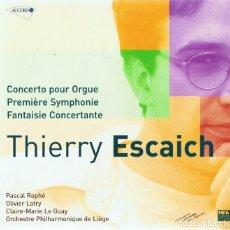 CDs de Música: THIERRY ESCAICH CONCIERTO PARA ORGANO . Lote 180260477