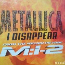 CDs de Música: METALLICA I DISAPPEAR M:I-2 CD SINGLE. Lote 180260833