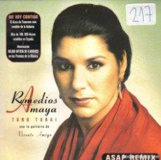 CDs de Música: REMEDIOS AMAYA - TURU TURAI ASAP REMIX CD SINGLE 1 TEMA 1998 PROMO . Lote 180264457