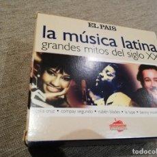 CDs de Música: LA MÚSICA LATINA-GRANDES MITOS DEL SIGLO XX. 6 CDEL PAIS. Lote 180288100