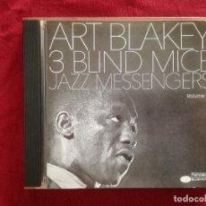 CDs de Música: ART BLAKEY JAZZ MESSENGERS - 3 BLIND MICE - BLUE NOTE - WAYNE SHORTER FREDDIE HUBBARD CURTIS FULLES. Lote 180313133