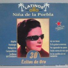 CDs de Música: 2 CD. NIÑA DE LA PUEBLA. 30 EXITOS DE ORO. LATINOS DE ORO. Lote 180316193