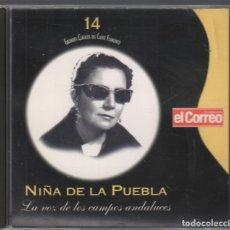 CDs de Música: GRANDES CLASICOS DEL CANTE FLAMENCO Nº 14 NIÑA DE LA PUEBLA / CD DE 2001 RF-3147 , PERFECTO ESTADO. Lote 180319887
