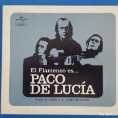 CDs de Música: CD / PACO DE LUCIA / EL FLAMENCO ES... PACO DE LUCIA, VIVE EL ARTE Y EL SENTIMIENTO 2010 NUEVO . Lote 180322471