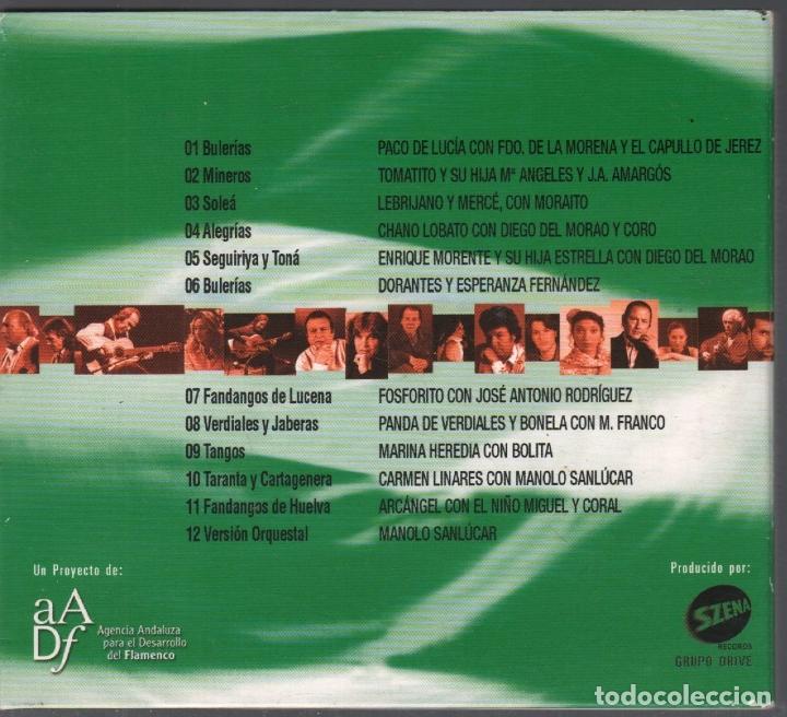 CDs de Música: FLAMENCO POR ANDALUCIA, ESPAÑA Y LA HUMANIDAD ENRIQUE MORENTE,..CD DIGIPACK RF-3151 - Foto 2 - 180322676