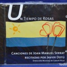 CDs de Música: JAVIER DOTÚ - UN TIEMPO DE ROSAS ( CANCIONES DE JOAN MANUEL SERRAT RECITADAS POR JAVIER DOTÚ) - CD. Lote 180323271