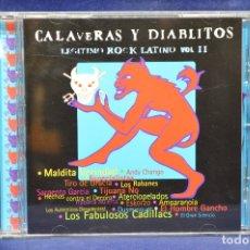 CDs de Música: VARIOUS - CALAVERAS Y DIABLITOS ( LEGÍTIMO ROCK LATINO VOL II ) - CD. Lote 180326472