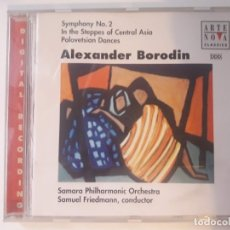 CDs de Música: CD ALEXANDER BORODIN - SYMPHONY NO. 2; IN THE STEPPES OF CENTRAL ASIA; POLOVETSIAN DANCES. Lote 180326971