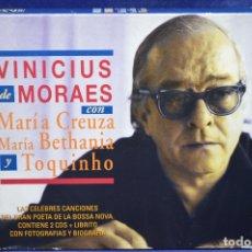 CDs de Música: VINICIUS DE MORAES, MARÍA CREUZA, MARÍA BETHANIA Y TOQUINHO - EN LA FUSA - 2 CD. Lote 180329697