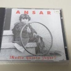 CDs de Música: JJ10- ANSAR NADIE QUIERE JUGAR CD NUEVO PRECINTADO LIQUIDACION !!!! N2. Lote 180391085