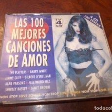 CDs de Música: LAS 100 MEJORES CANCIONES DE AMOR, 4 CD, 100 TRACKS, 1.995. Lote 180391310