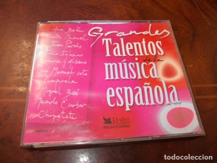 GRANDES TALENTOS DE LA MÚSICA ESPAÑOLA. 5 CD. READER'S DIGEST SELECCIONES 2.002 (Música - CD's Flamenco, Canción española y Cuplé)