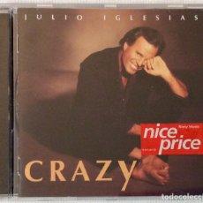 CDs de Música: JULIO IGLESIAS , CRAZY CD (1994). Lote 180411296