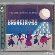 CDs de Música: 2 CD. DESAFINADO / 37 CLASICOS INOLVIDABLES DEL BRASIL. Lote 180412966