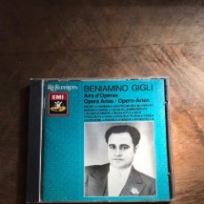 CDs de Música: BENIAMINO GIGLI. Lote 180426336